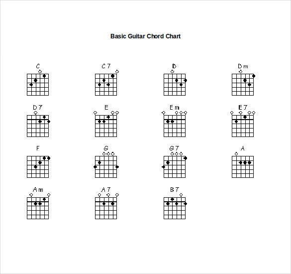 15+ Word Guitar Chord Chart Templates Free Download | Free & Premium ...