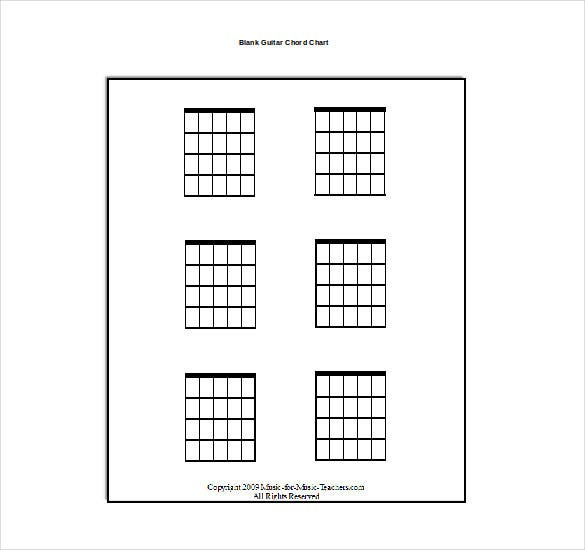 92  blank guitar diagram