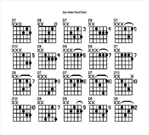 15  word guitar chord chart templates free download