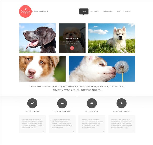 responsive animal pet wordpress bootstrap theme