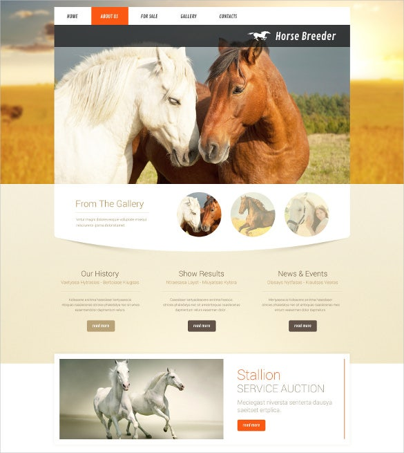 responsive animal pet bootstrap website template