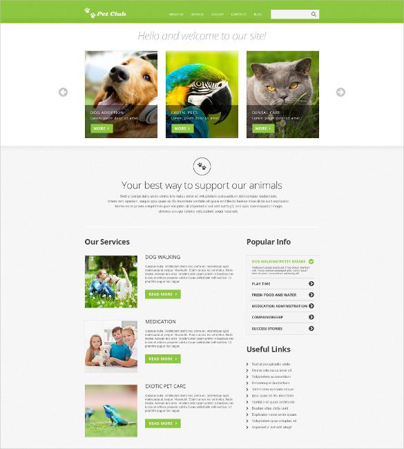 animals pets responsive joomla bootstrap template