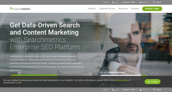 searchmetrics content marketing analysis tool