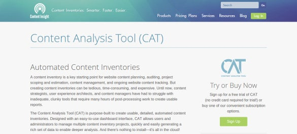 content insight content analysis tool
