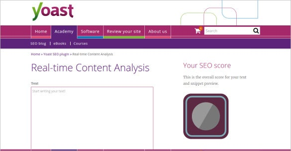 yoast real time free content analysis tool