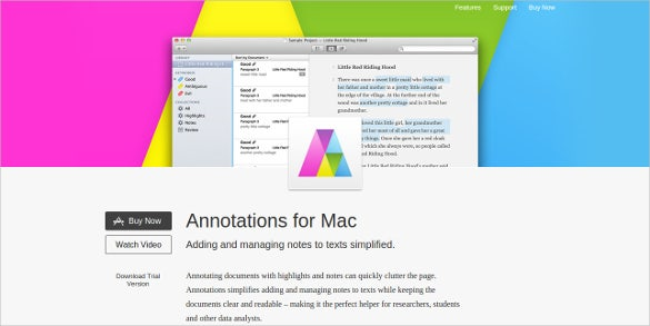 annotations for mac content analysis tool