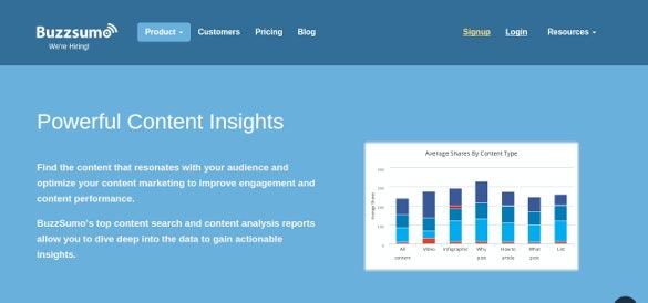buzzsumo powerful content insights tool