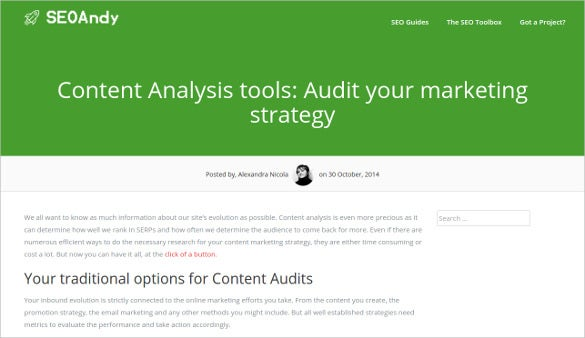 seo andy content analysis tools
