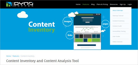 dynomapper content inventory and content analysis tool
