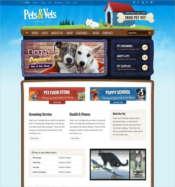 animal pet wordpress woocommerce bootstrap theme