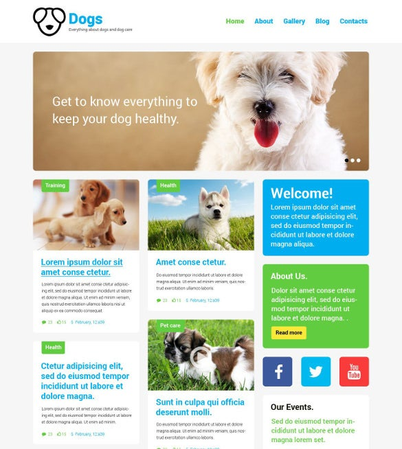animal pet responsive php theme