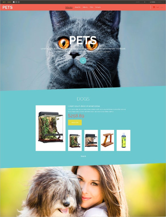animal pet store virtuemart php template