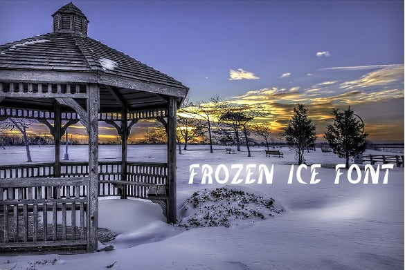frozen ice font download