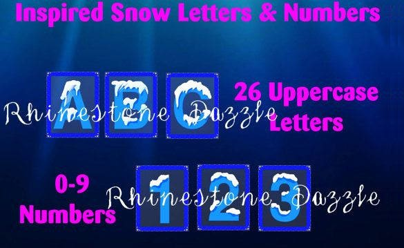 digital frozen snow font
