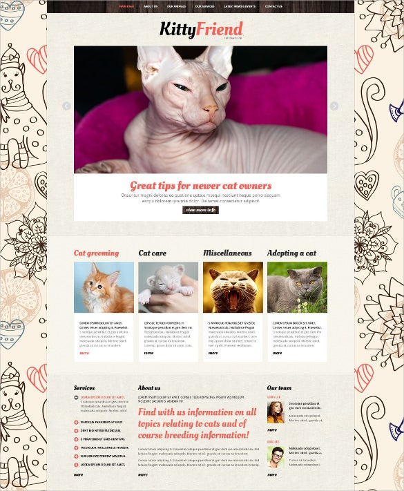 animals pets joomla php template