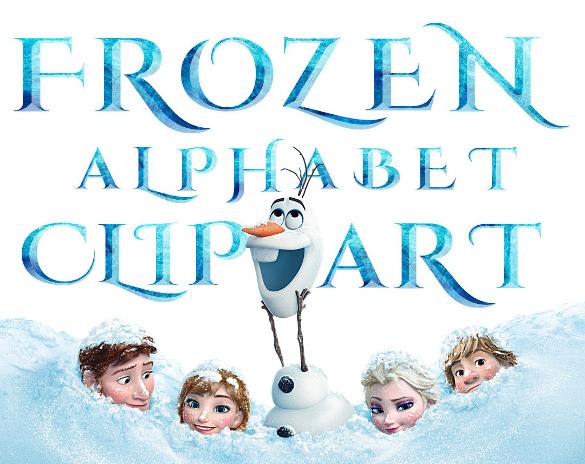 printable frozen font