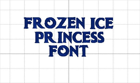 frozen ice princess font instant download