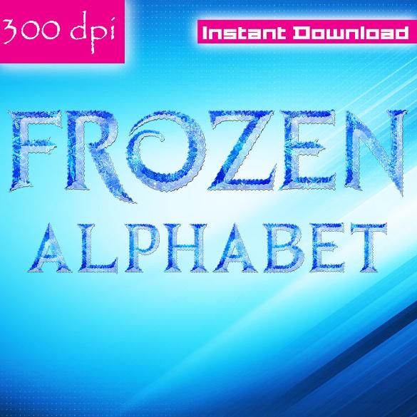 frozen font instant download