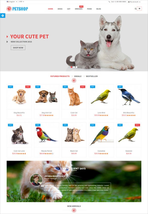 animal pet shop responsive prestashop php theme