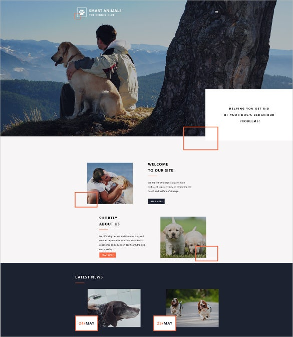 smart animal pets animals website template 69