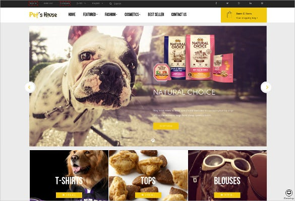 animal pet food prestashop php theme