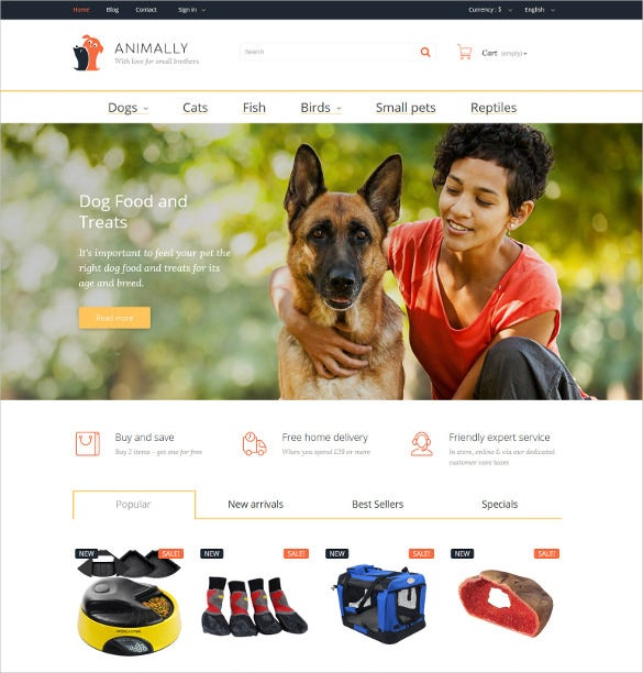 animal pets website prestashop theme 1391