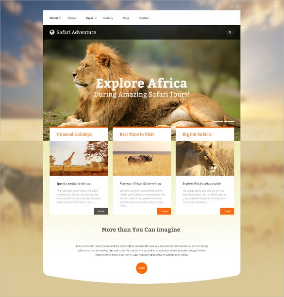 animal pets website safari adventure joomla template 75