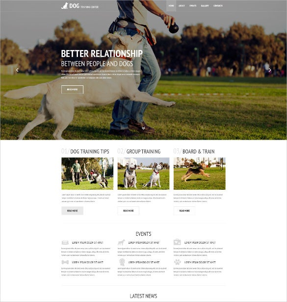 animal pets website theme 69