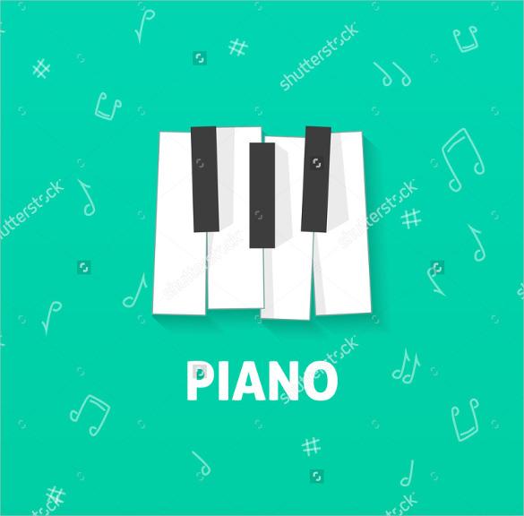 illustration music logo design download