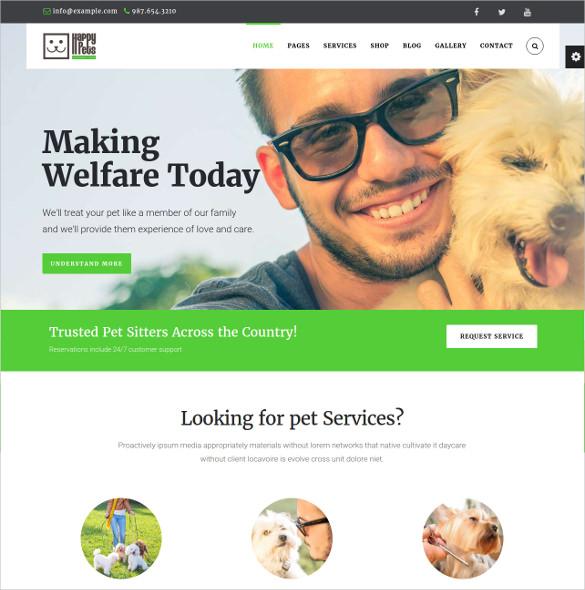 animal pet shop services wordpress theme 59
