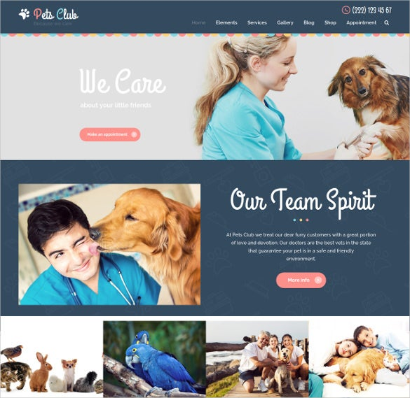 animal pet care shop website theme 59