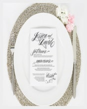 Wedding Dinner Ravishing Script Menu Template Sample Template