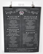 Sample Chalkboard Style Catering Menu Template Download
