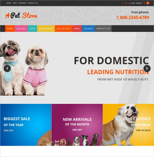 animal pets website wordpress woocommerce theme 59
