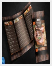 Menu Design Template Sample Download