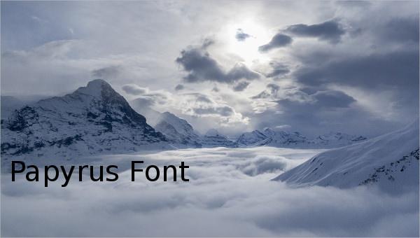 papyrusfont