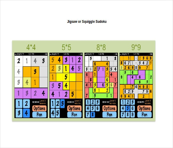 jigsaw or squiggle sudoku