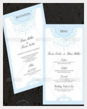 Wedding Invitation & Menu Cards Template Sample Download
