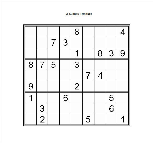 15 Word Sudoku Templates Free Download Free Premium Templates