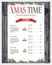 Special Christmas Festive Menu Template Sample Download
