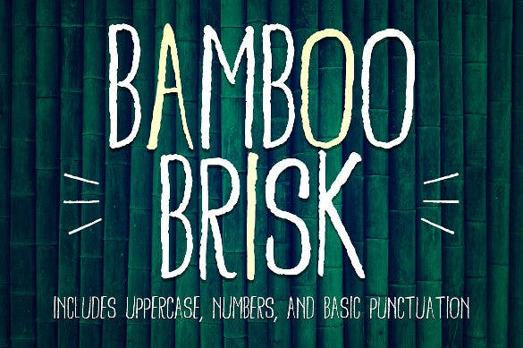 bamboo brisk papyrus font psd download