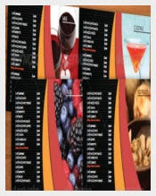 Coffee Bar Menu Vector EPS Format Download