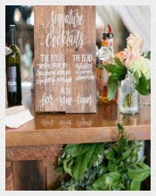 Sample Bar Menu Sign Template Download
