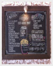 Sample Chalkboard Menu Download