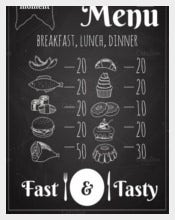 Lunch Menu Poster Design Vector Format Download