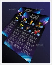 Cocktail Menu Flyer Vector EPS Format Download