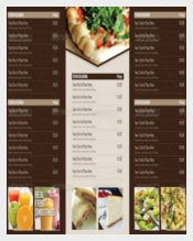 Multi Purpose Tri Fold Menu Card Template Sample Download
