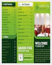 Tri Fold Menu Card Template Sample Download
