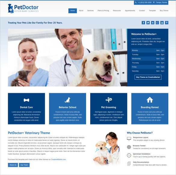 animal pets doctor veterinary website joomla theme 32