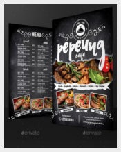 Blackboard Cafe Menu Vector Format Download